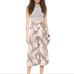 FREE PEOPLE High Waisted printed culottes large